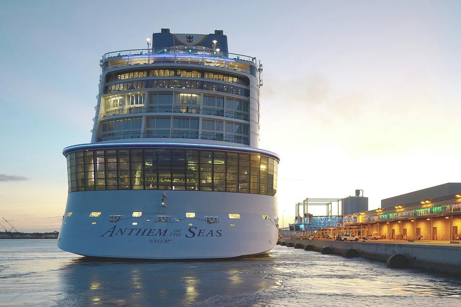 Anthem of the Seas at Twilight by Bradford Martin