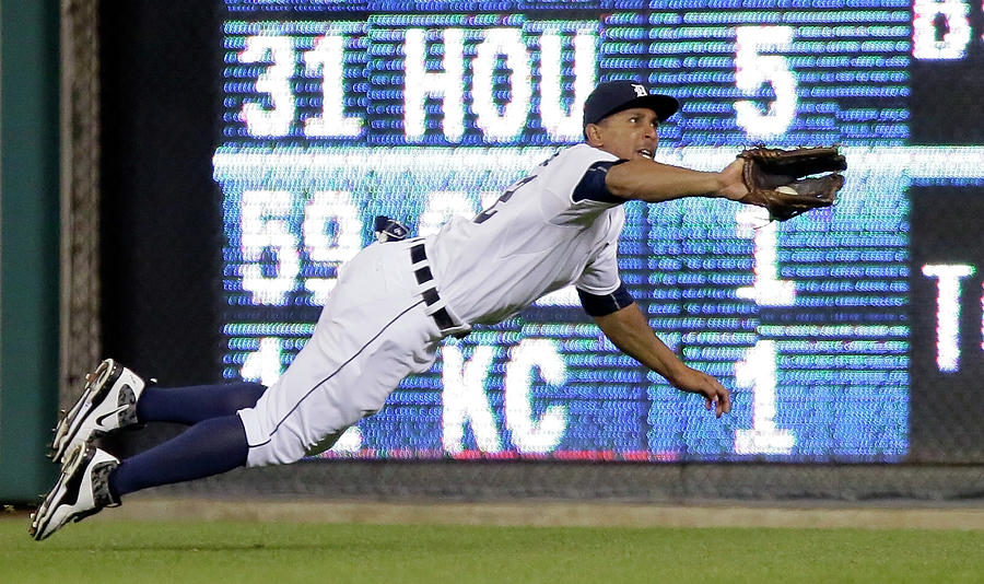 Anthony Gose And Ben Zobrist Photograph by Duane Burleson