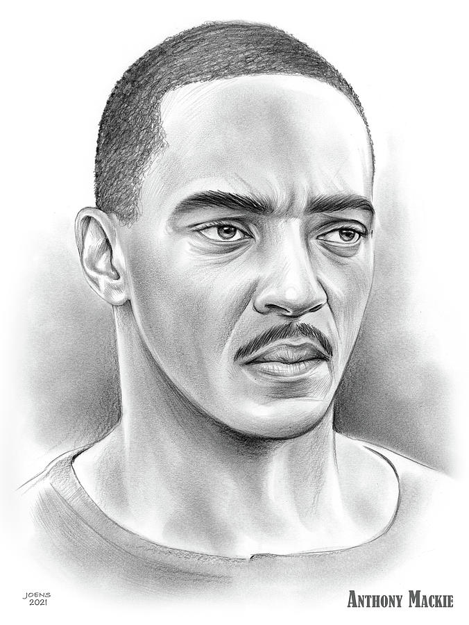 Anthony Mackie Drawing - Anthony Mackie - pencil by Greg Joens