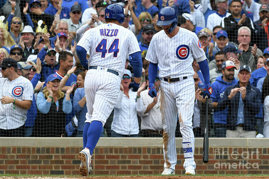 Anthony Rizzo and Kris Bryant Photograph by David Durochik