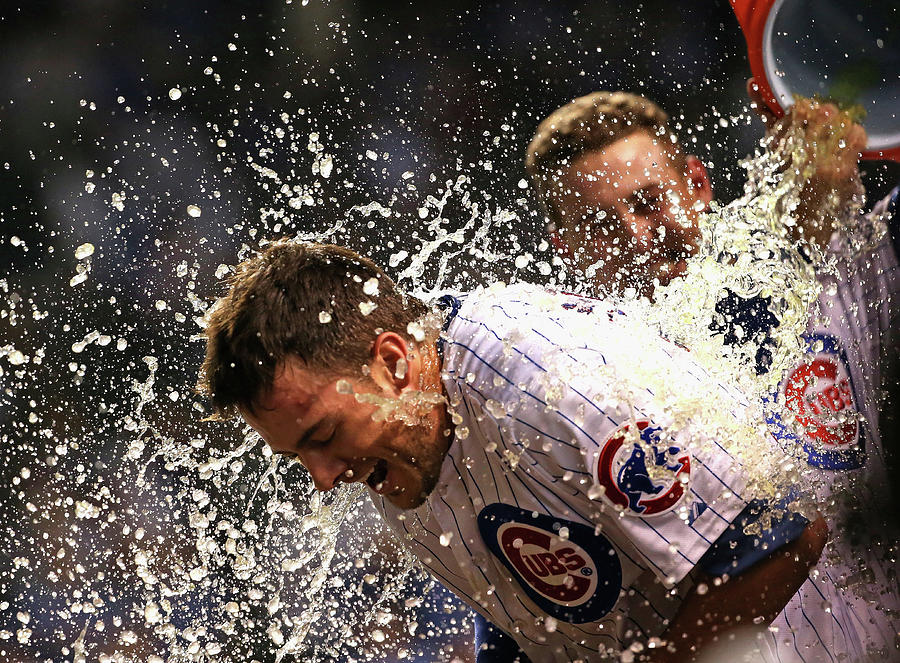Anthony Rizzo and Kris Bryant Photograph by Jonathan Daniel