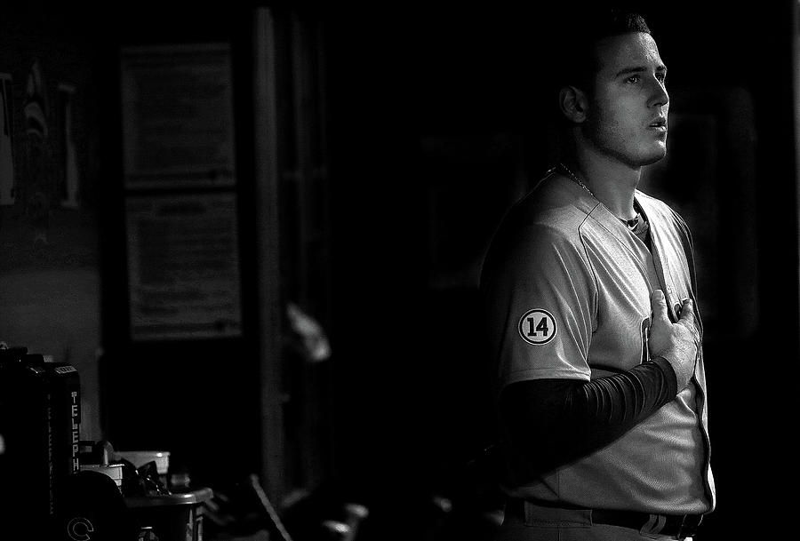Anthony Rizzo Photograph by Mike Ehrmann