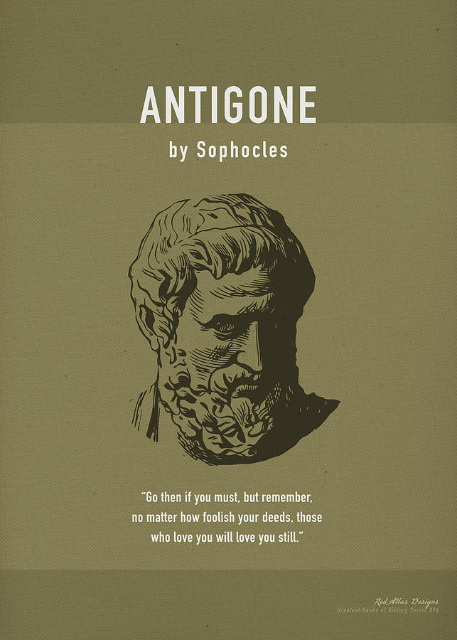 Antigone Mixed Media - Antigone By Sophocles Greatest Book Series 096 by Design Turnpike