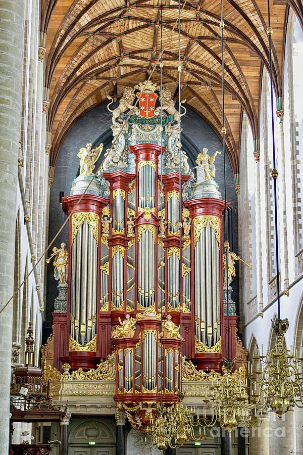 Antique 18th century church organ in the Netherlands by Patricia Hofmeester