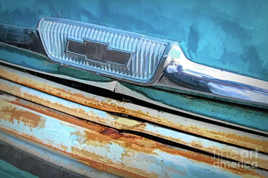 Chevy Digital Art - Antique Chevy Logo by Chris Mautz