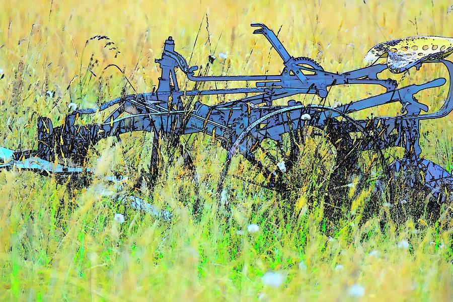 Antique Field Cultivator Photograph