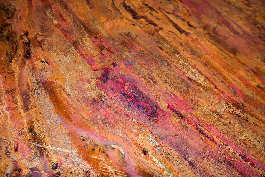 Antique Rustic Copper Photograph