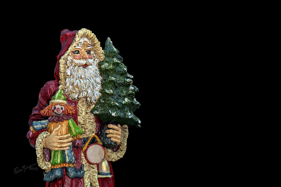 Christmas Photograph - Antique Santa by Erich Grant