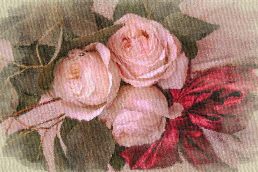Antique Wedding Arrangement by Diane Lindon Coy
