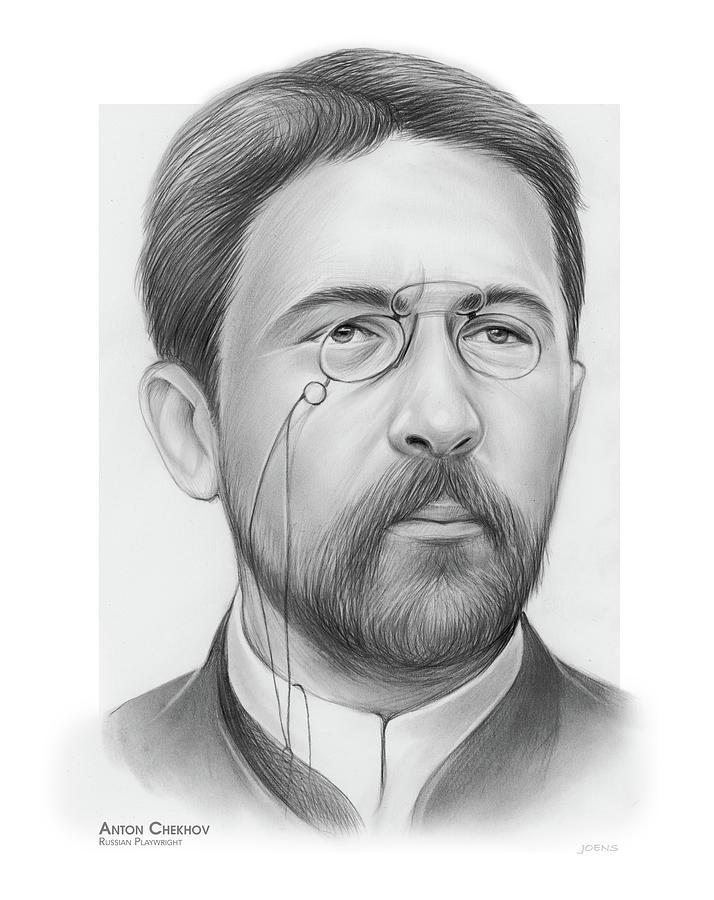 Anton Chekhov Drawing - Anton Chekhov by Greg Joens