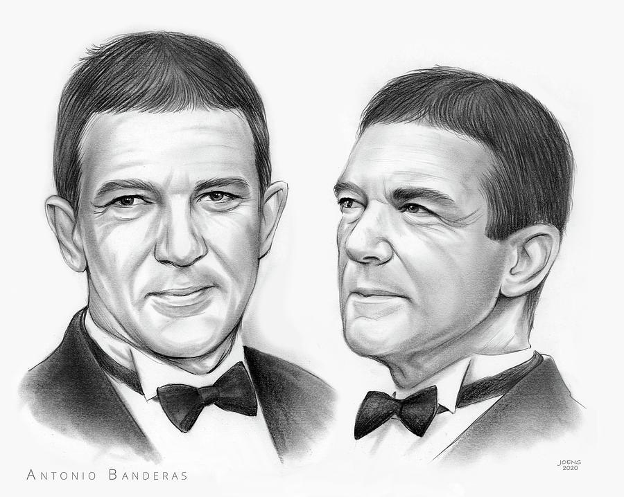 Antonio Banderas Drawing - Antonio Banderas - Pencil by Greg Joens