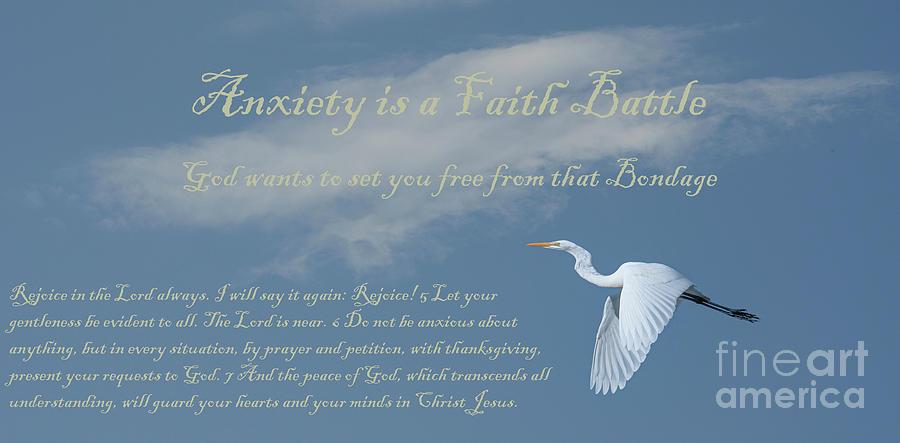 Anxiety Is A Faith Battle Photograph