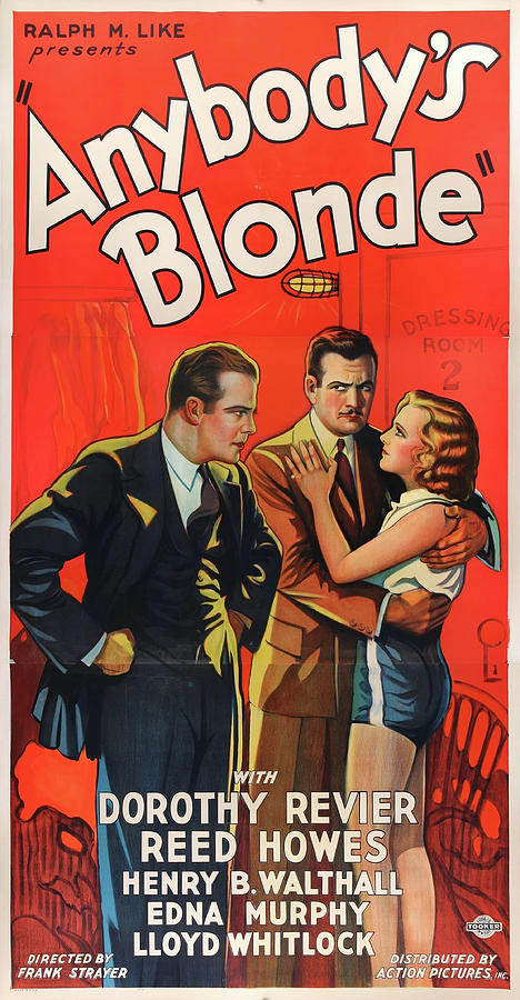 anybodys Blonde Movie Poster 1931 Mixed Media