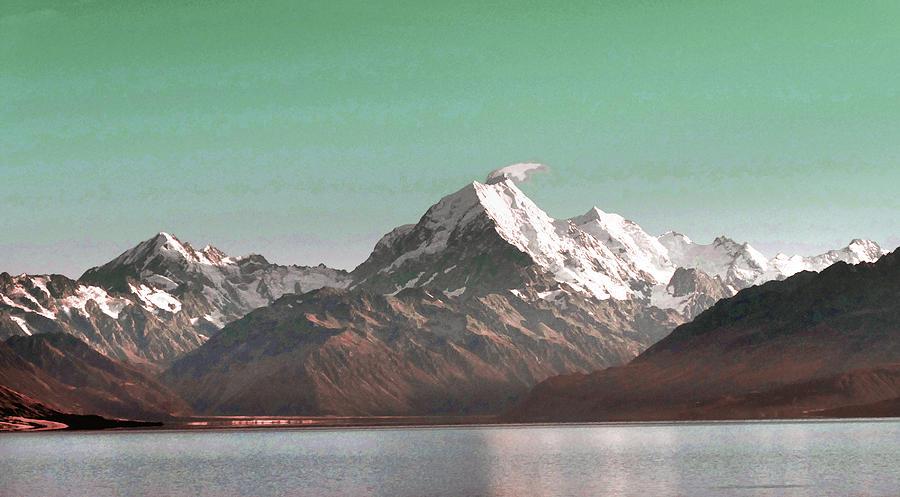 Aoraki   Mount Cook , The Highest Mountain In New Zealand. - Surreal Art By Ahmet Asar Digital Art