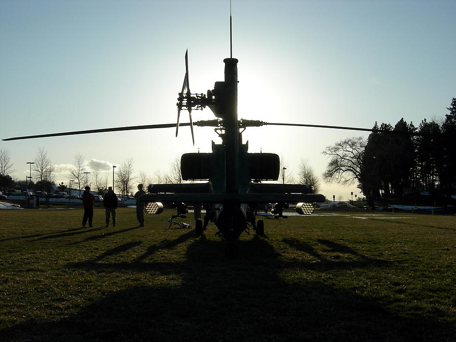 Apache in silhouette by Jean Evans