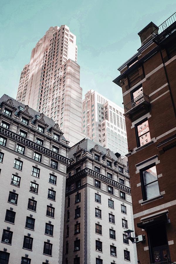 Apartment Buildings Located Near Skyscraper - Surreal Art By Ahmet Asar Digital Art