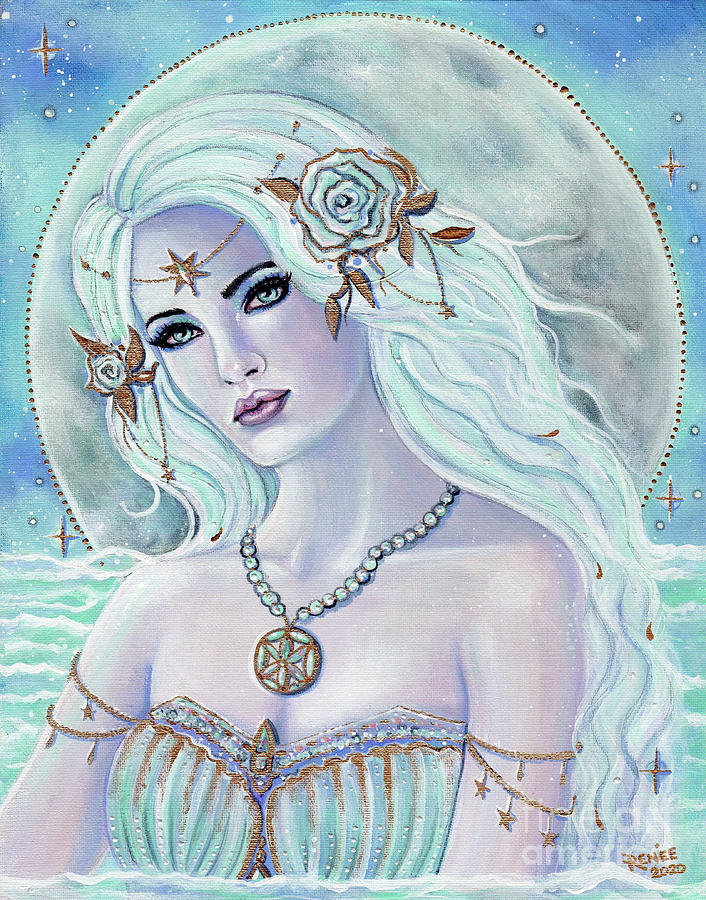 Aphrodite goddess of love Painting by Renee Lavoie
