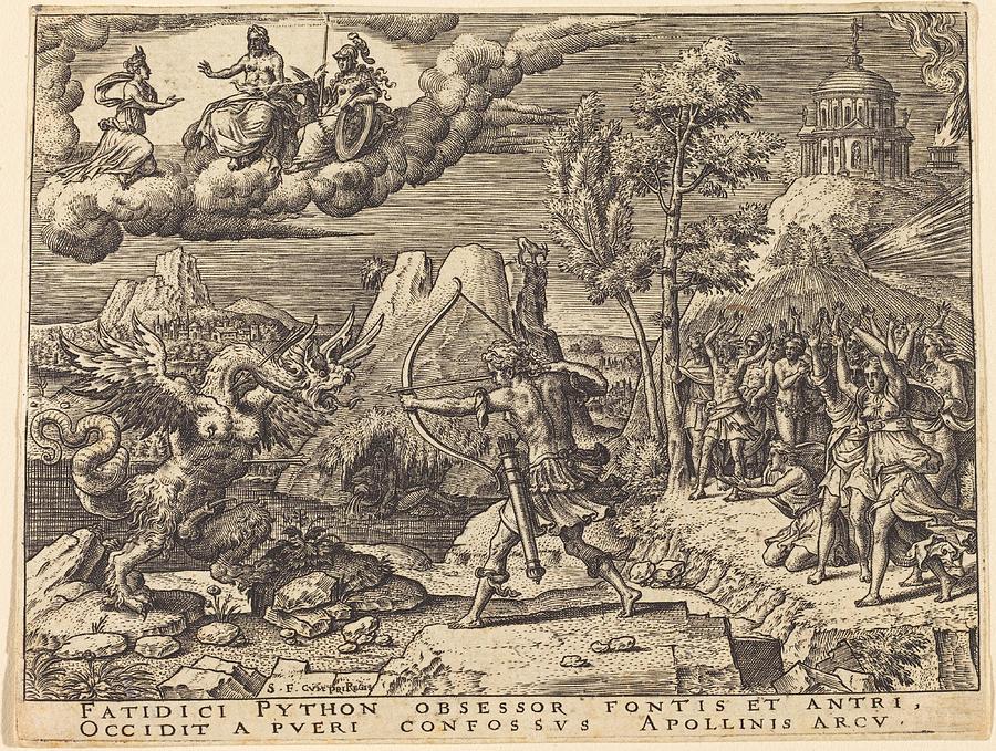 Apollo Killing Python by Etienne Delaune