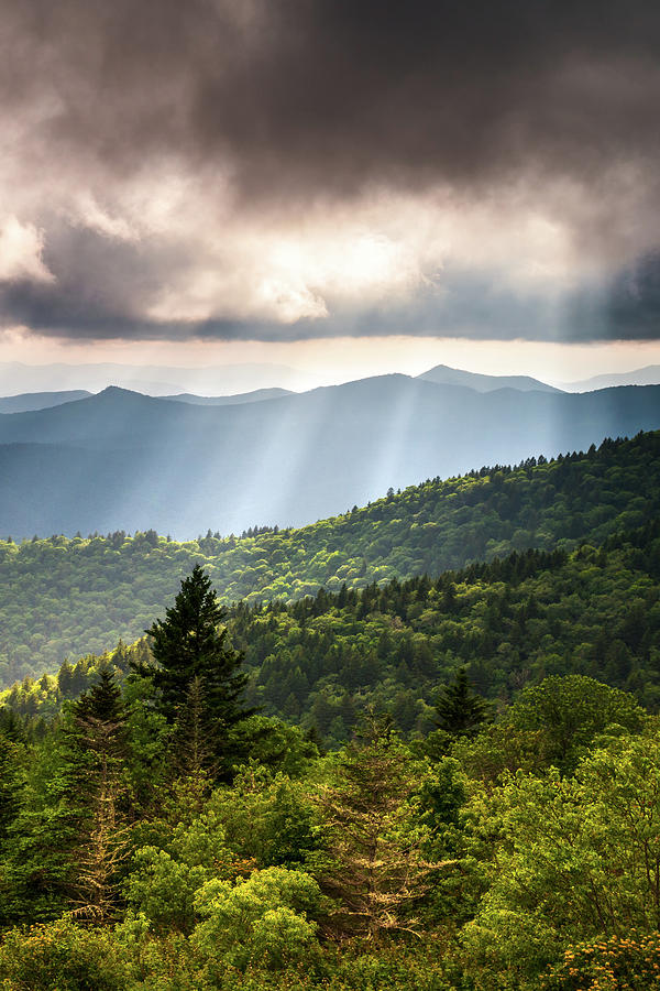 Appalachian Mountains Asheville Nc Outdoors Scenic Overlook Landscape Prints Photograph