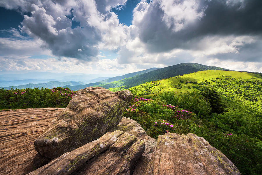 Appalachian Trail Photography Blue Ridge Mountains North Carolina Scenic Landscape Photograph