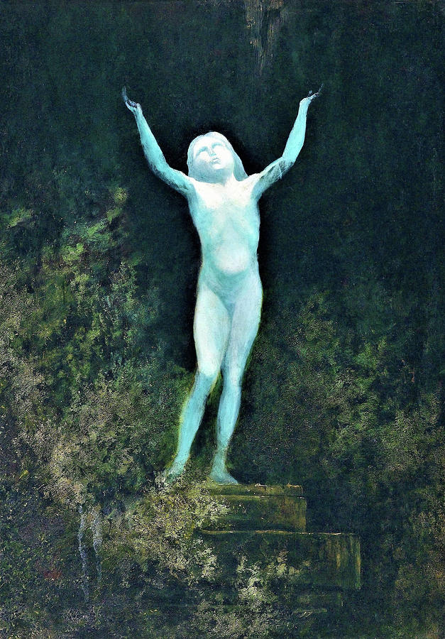 German Painting - Apparition Or A Sidereal Body - Digital Remastered Edition by Karl Wilhelm Diefenbach