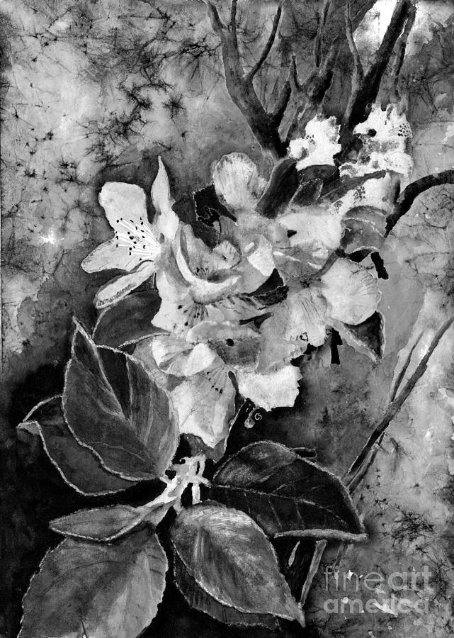 Apple Blossoms In The Moonlight Digital Art