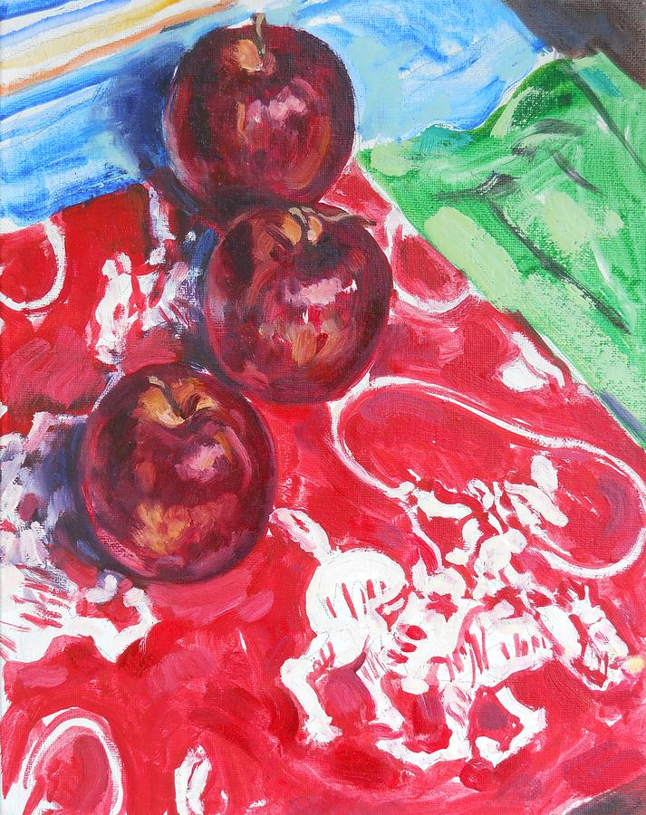 Apple Painting - Apple Round-up by Thomas Dans