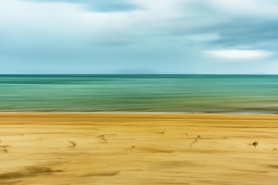 Approaching Rain Storm At The Beach Photograph