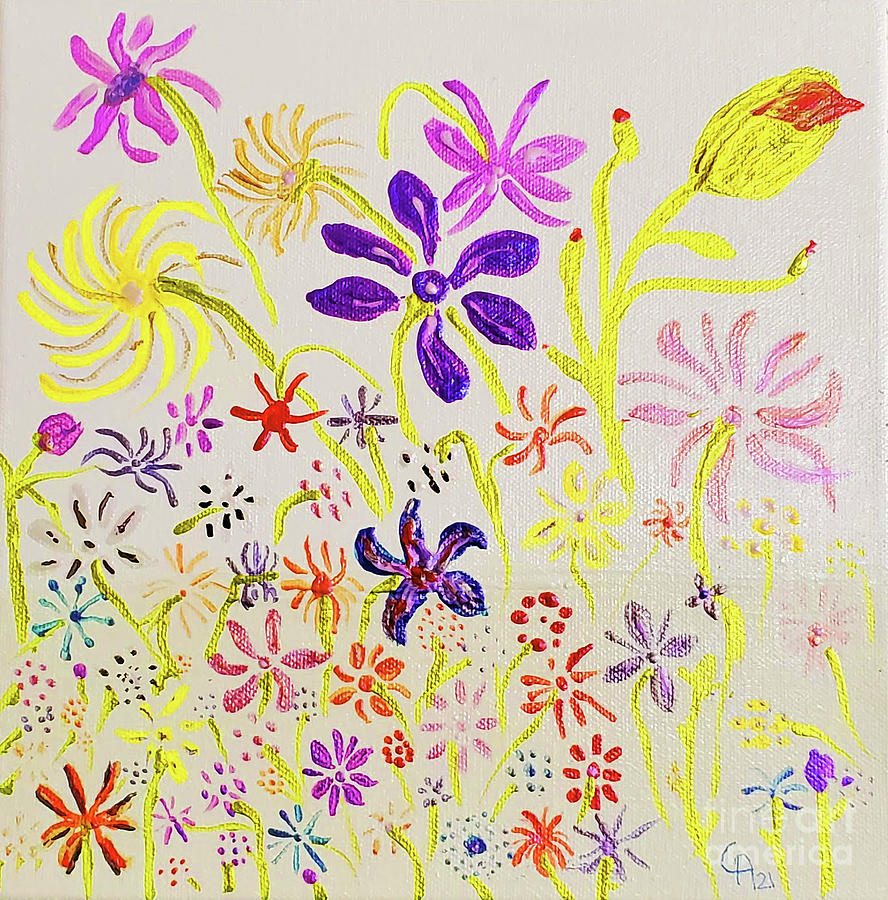 April Flowers Painting