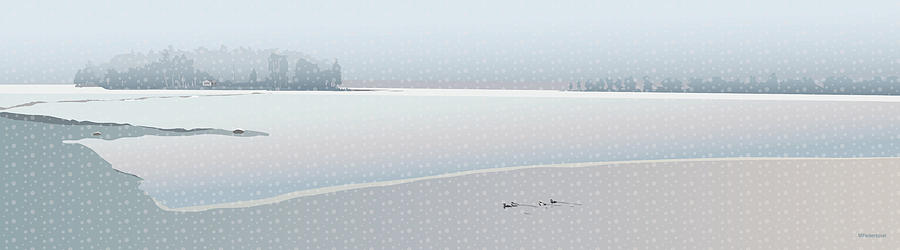 Lake Digital Art - April Snow Showers by Marian Federspiel