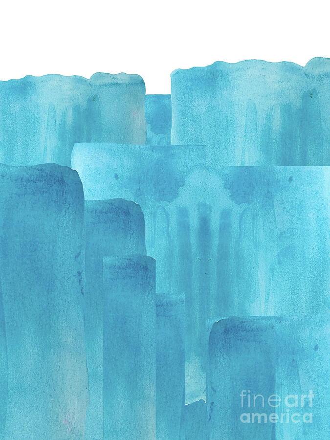 Aqua Brush Strokes by Marti Magna