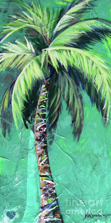 Aqua Palm Tree by Kristen Abrahamson