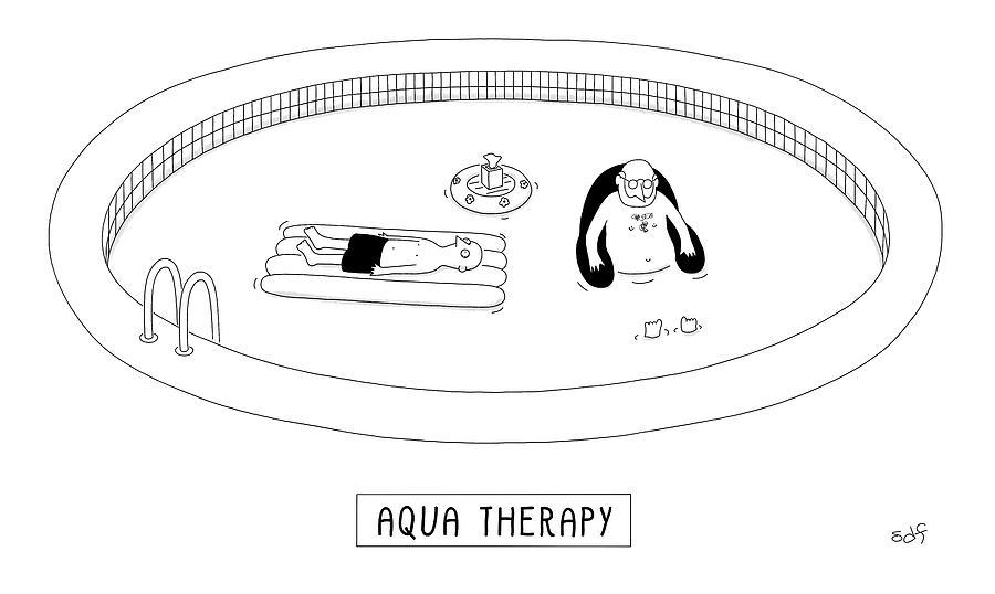 Aqua Therapy Drawing by Seth Fleishman
