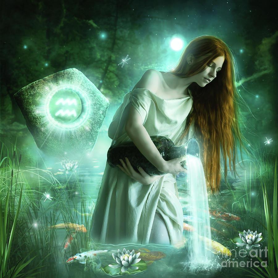 Fish Digital Art - Aquarius  by Jessica Allain