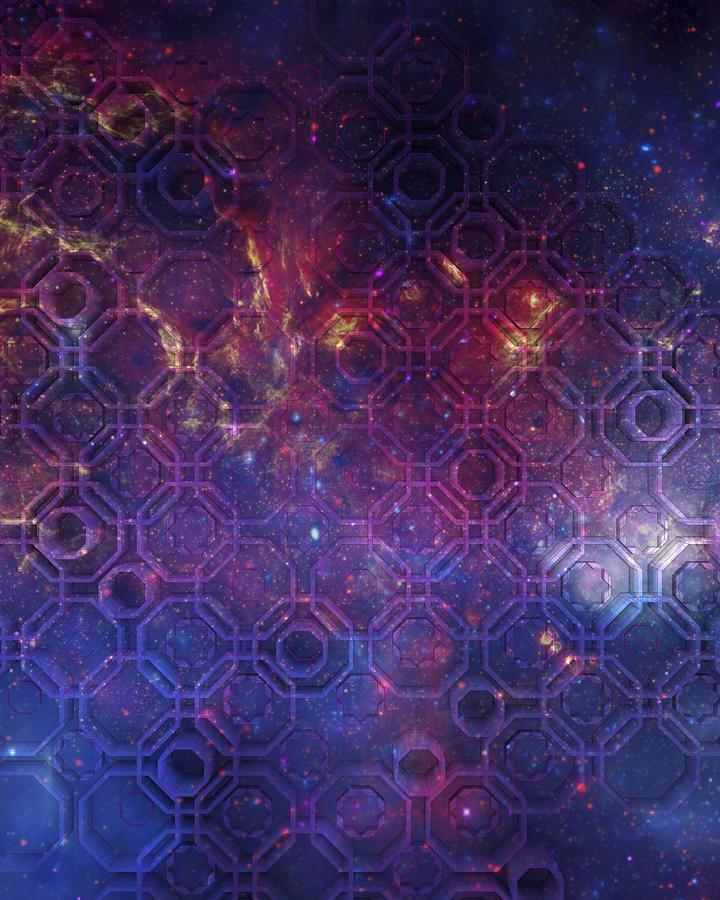 Arabesque In Violet Space Digital Art