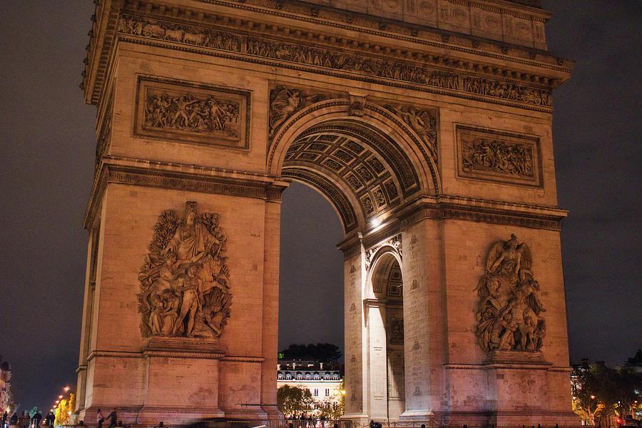 Arc De Triomphe Night Glow by Portia Olaughlin