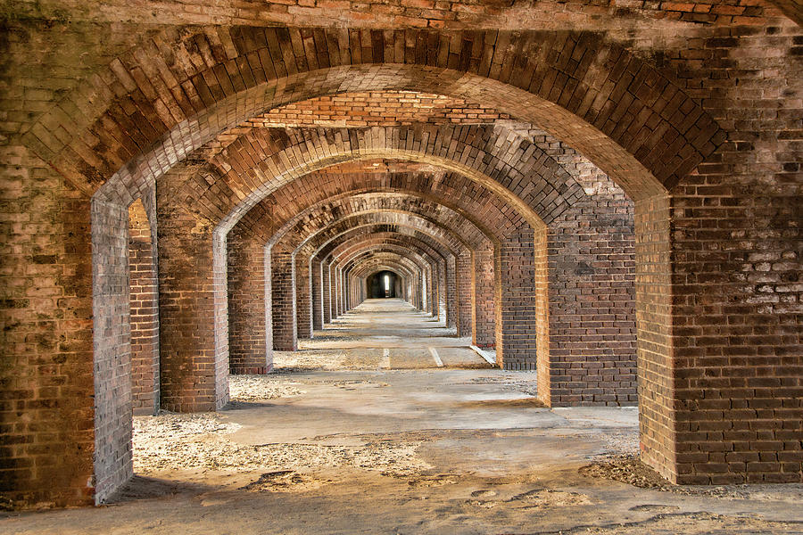 Arches Inside Fort Jefferson by Kristia Adams