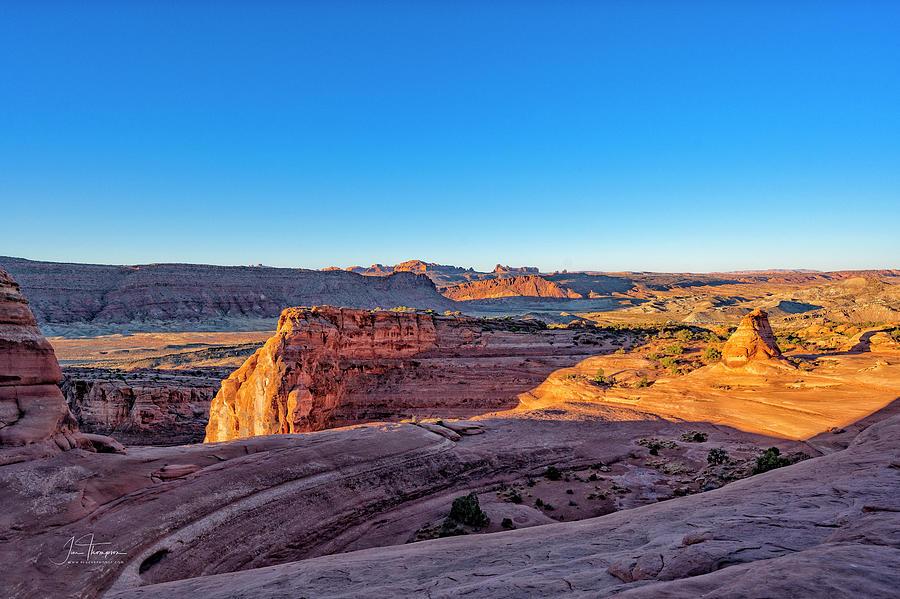 Arches National Park Photograph - Arches National Park landscape by Jim Thompson