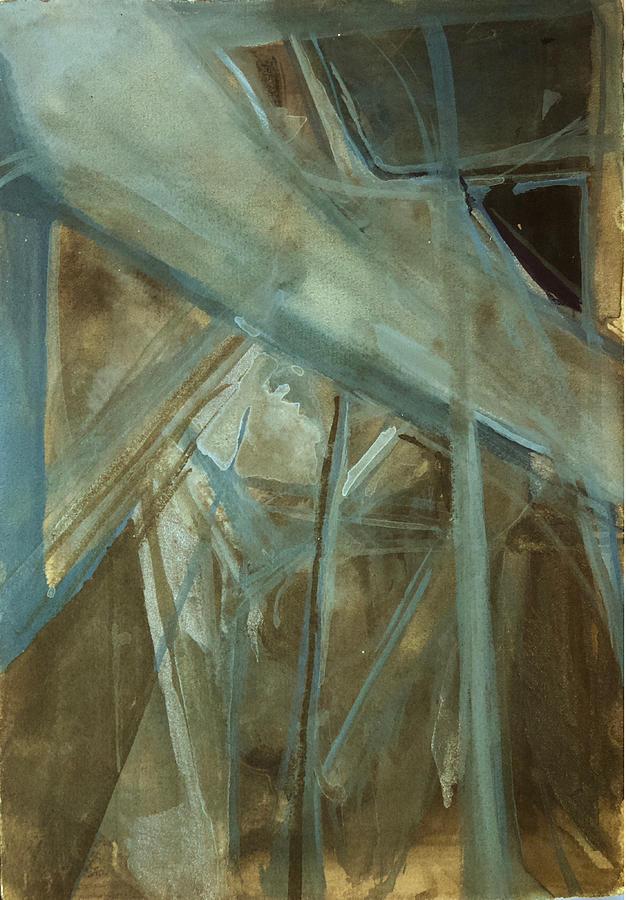 Abstract Painting - Architectonicum 1 by Noe Badillo