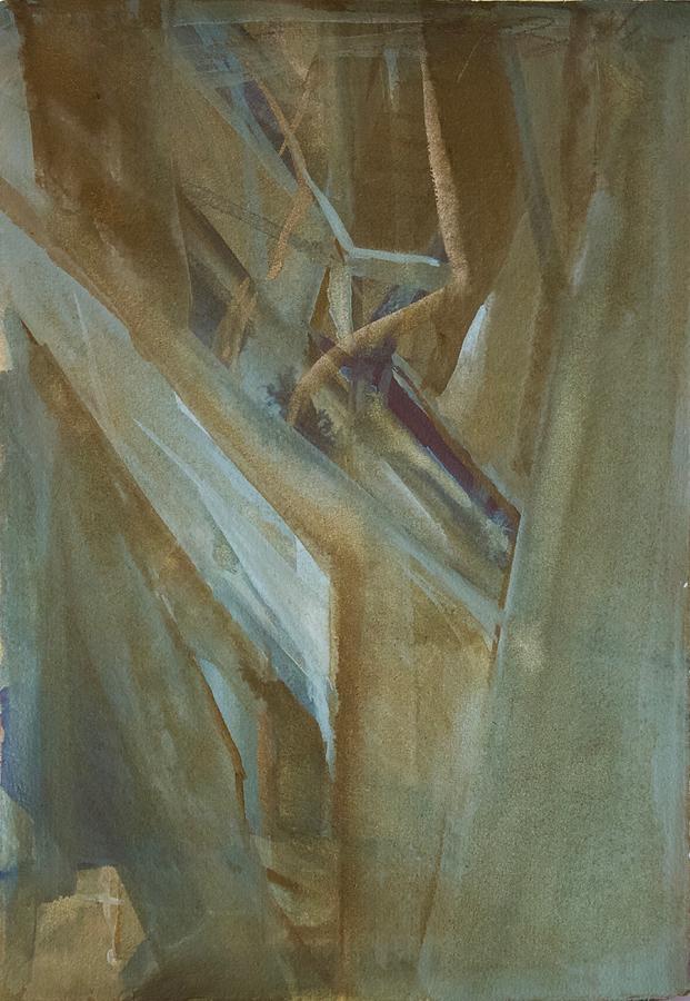 Abstract Painting - Architectonicum 2 by Noe Badillo