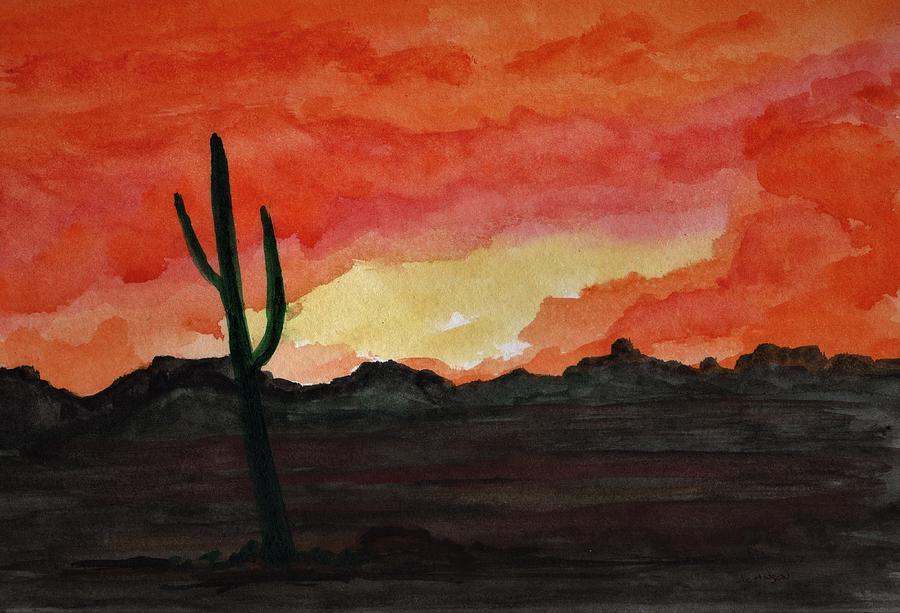 Arizona Sunset Painting