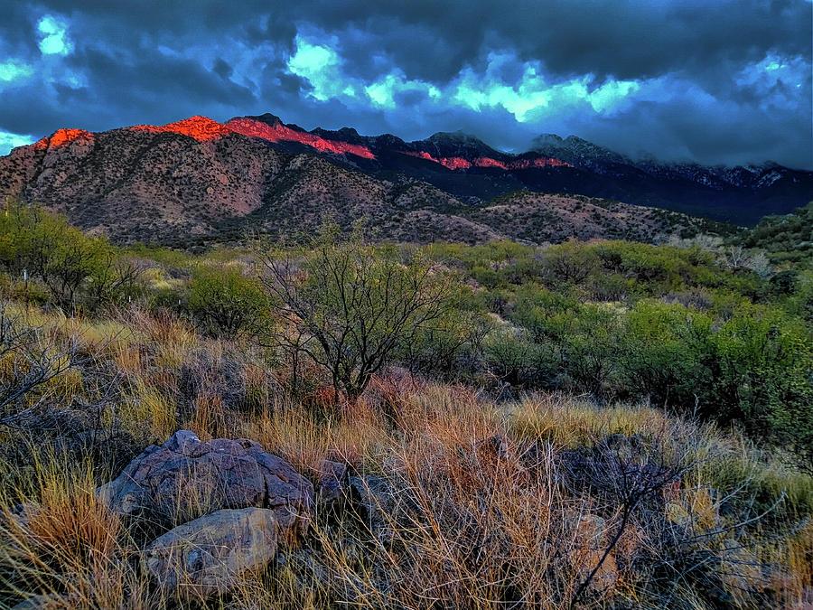 Arizona Sunset Winter by Chance Kafka