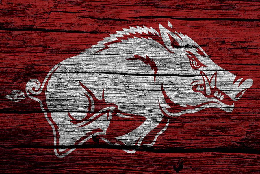 Arkansas Razorbacks Digital Art - Arkansas Razorbacks On Wood by Dan Sproul