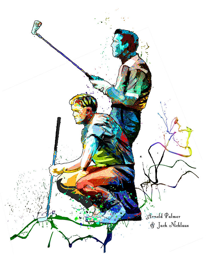 Arnold Palmer And Jack Nicklaus Passion Mixed Media