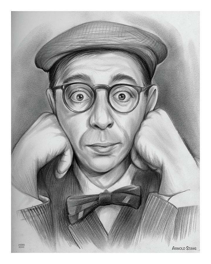 Arnold Stang - Pencil Drawing