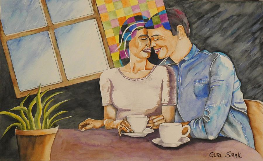 Coffee Painting - Aroma by Guri Stark