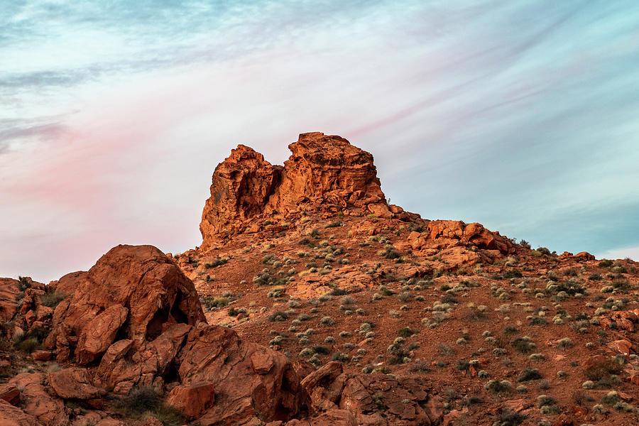 Nevada Photograph - Arrowhead Sunrise by James Marvin Phelps