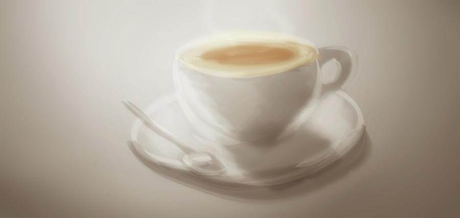 Coffee Digital Art - Art -- Coffee Time by Matthias Zegveld