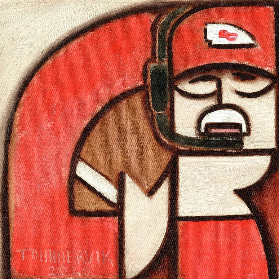 Art Deco Painting - Art Deco Andy Reid Football Art Print by Tommervik