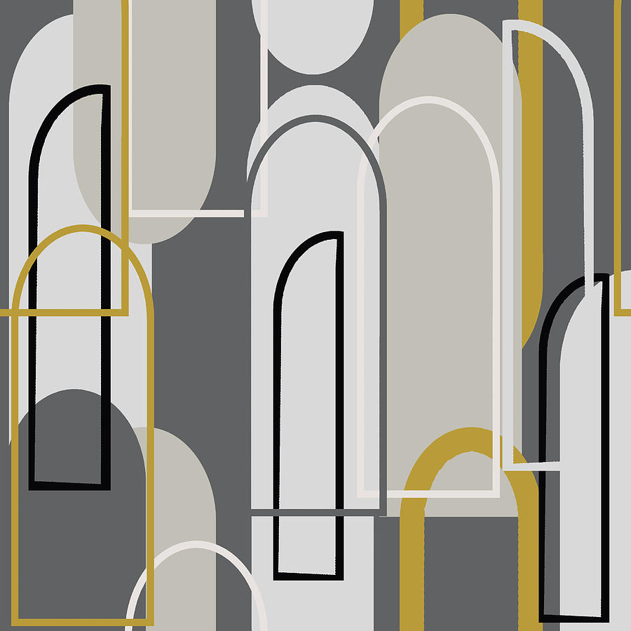Arch Digital Art - Art Deco Arch Window Pattern 3500x3500 seamless repeat by Sand And Chi